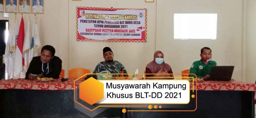 Warga Makmur Jaya Gelar Musyawara Kampung Khusus Penetapan Calon Penerima BLT Dana Desa Tahun 2021