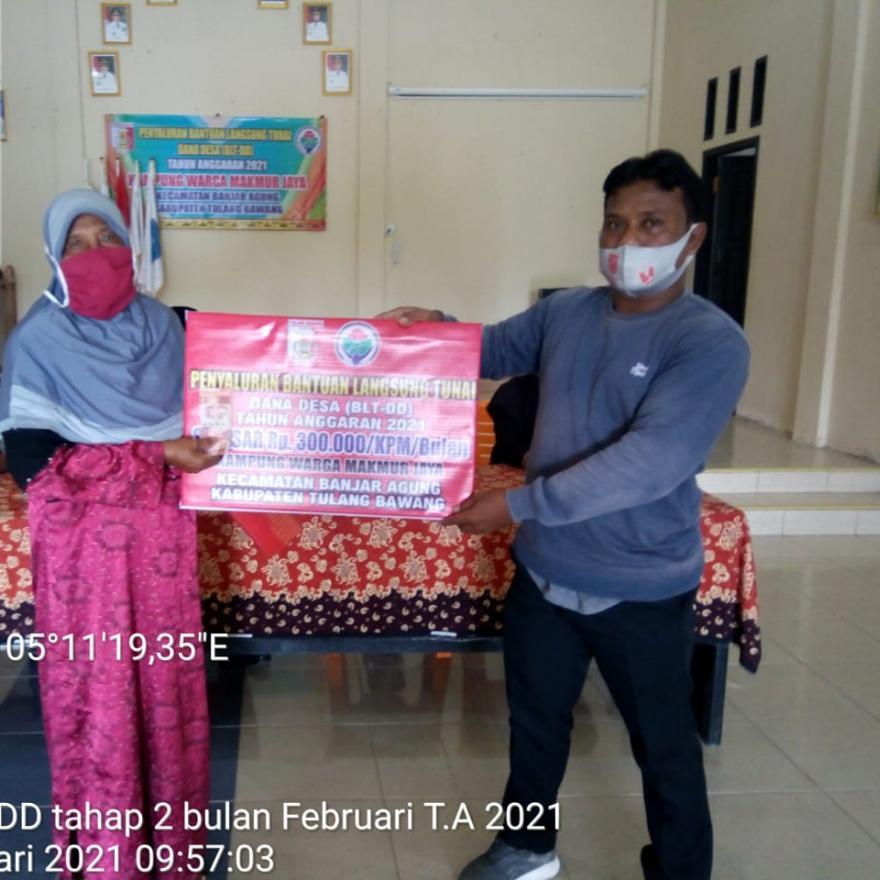 Pemyaluran BLT DD Kedua Bulan Februari 2021 Kampung Warga Makmur Jaya